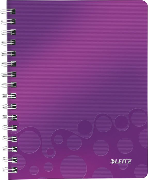 Blok Leitz WOW A4 - A4 / linka / fialová