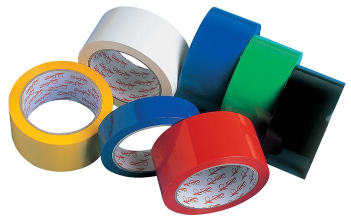 Balicí pásky barevné - 25 mm x 66 m / žlutá