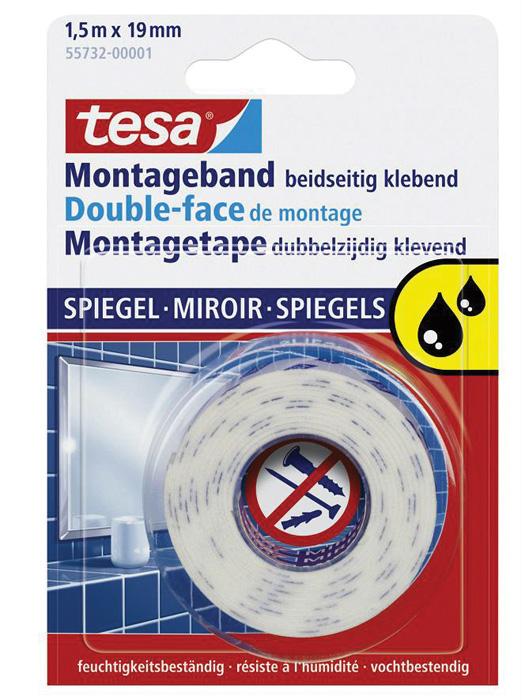 Montážní páska oboustranná Tesa - 19 mm x 1,5 m