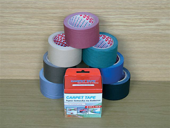 Lepicí pásky kobercové - 50 mm x 10 m / bordó
