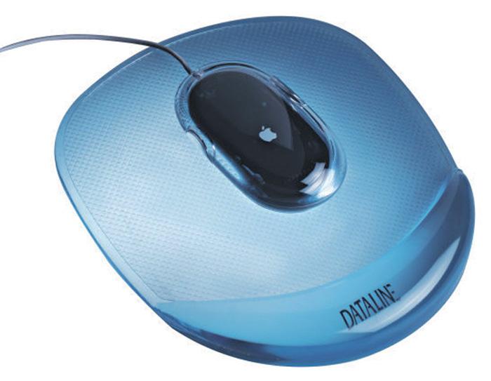 Podložka gelová pod myš Crystal - modrá