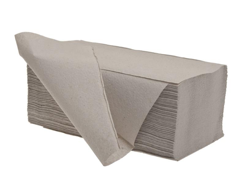 Ručníky papírové skládané - ručníky šedé / jednovrstvé / 250 ks