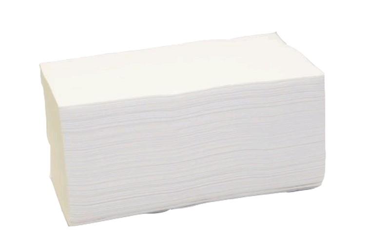 Ručníky papírové skládané - ručníky bílé / dvouvrstvé / 150 ks