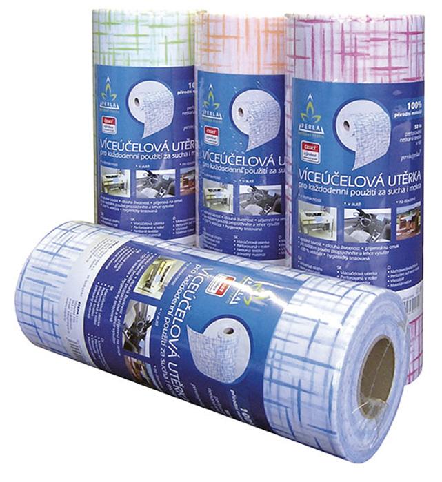 Utěrky papírové v roli - PERLAN - mix barev