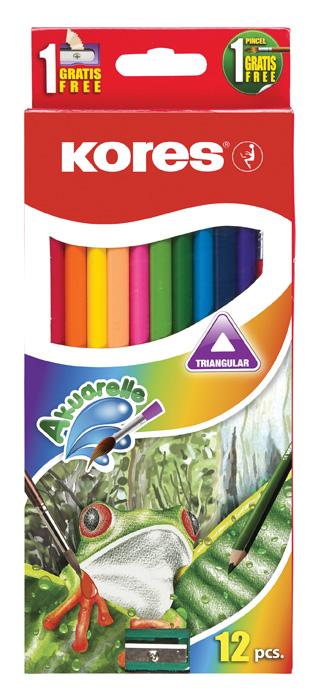 Pastelky trojhranné Kores akvarelové