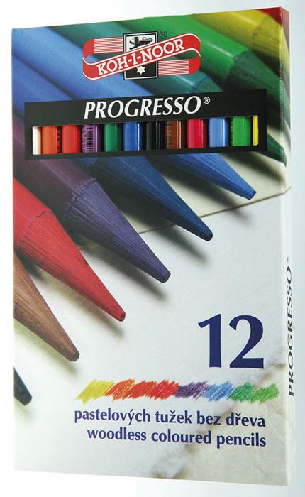 Pastelky Progresso - 12 barev