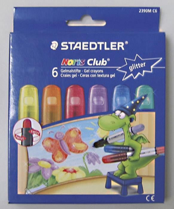 Voskové pastelky gelové Staedtler - třpytivé barvy