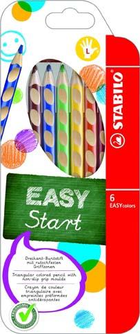 Trojhranné pastelky STABILO EASYcolors - 6 barev / pro praváky