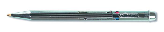 Kuličkové pero čtyřbarevné - stříbrná