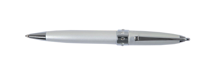 Kuličkové pero Lady Pen - bílo/stříbrná