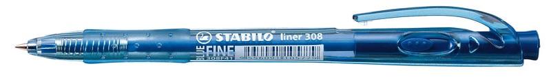 Kuličkové pero STABILO Liner 308 - modrá