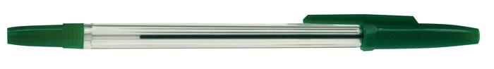 Kuličkové pero jednorázové - zelená