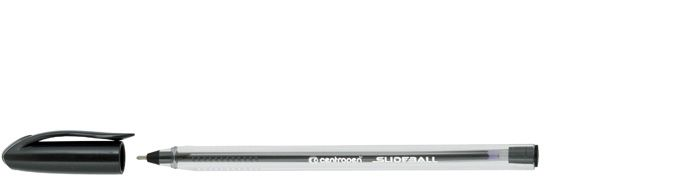 Kuličkové pero Centropen Slide ball 2215 - černá