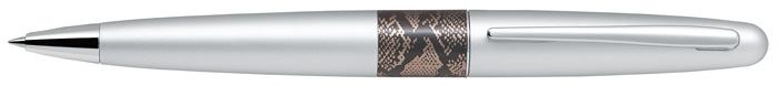 Kuličkové pero Middle Range 2 - stříbrná / had
