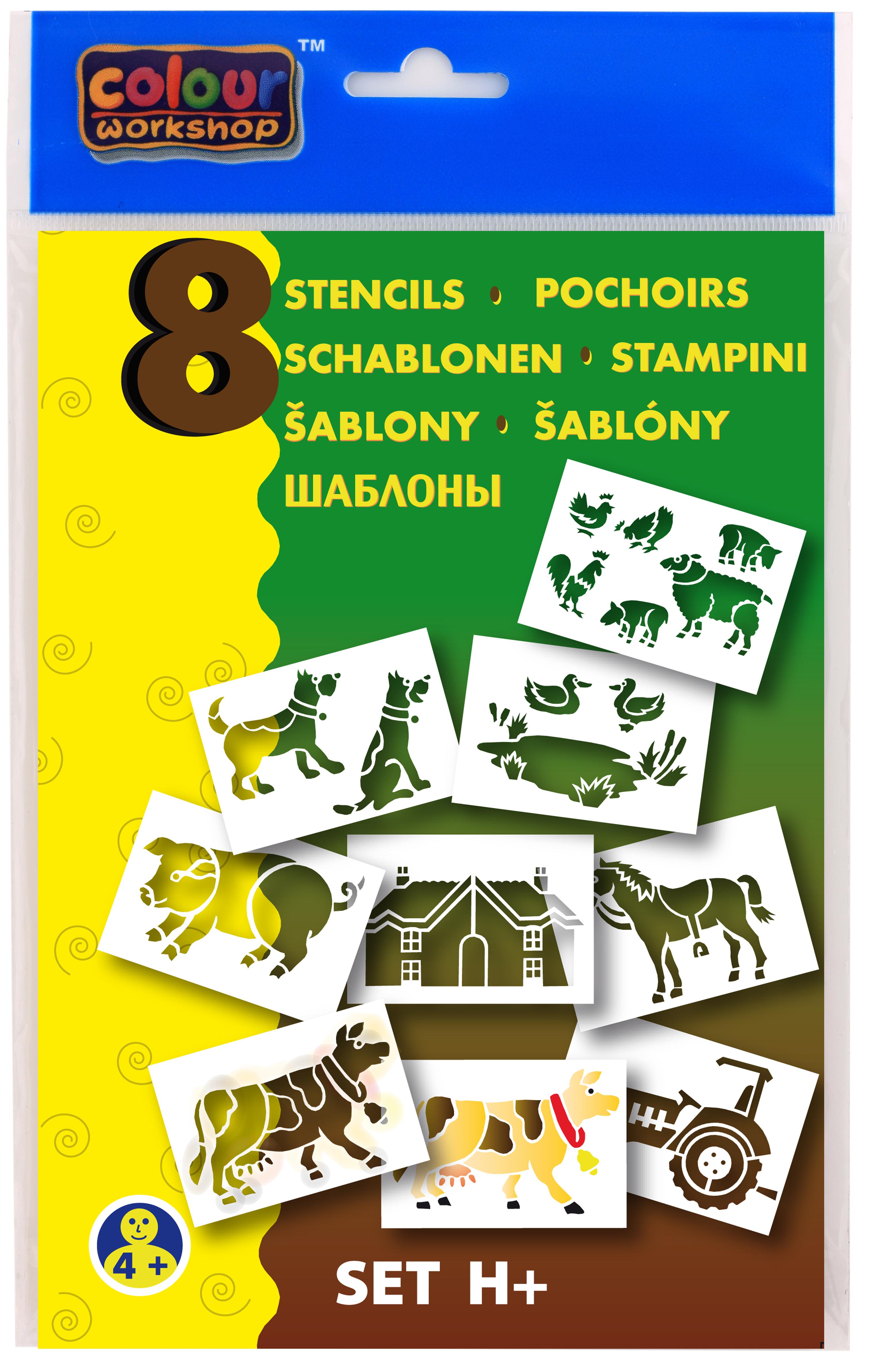 Šablony pro foukací fixy 9996 Centropen - H / domácí zvířata