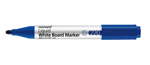 Popisovač Monami Whiteboard 220 - modrá