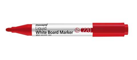 Popisovač Monami Whiteboard 220 - červená