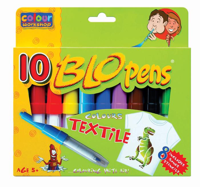 Foukací fixy TEXTILE 1539 Centropen - na textil / sada 10 ks
