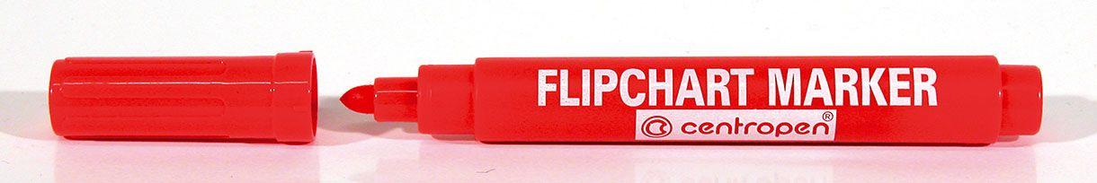 Značkovač Centropen 8550 Flipchart - červená