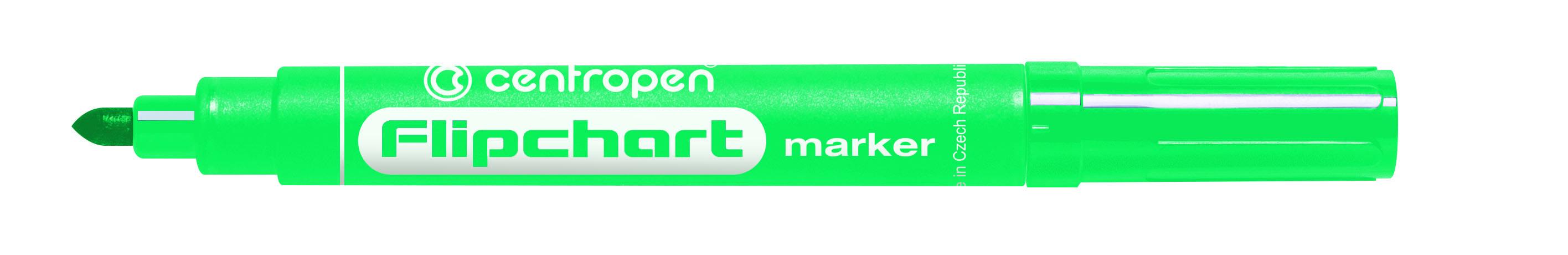 Značkovač Centropen 8550 Flipchart - zelená