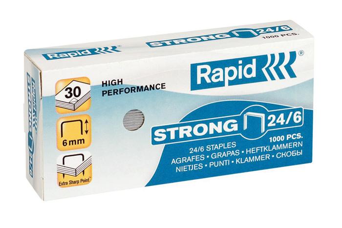 Spojovače Rapid - 24 / 6 / 1000 ks / Strong
