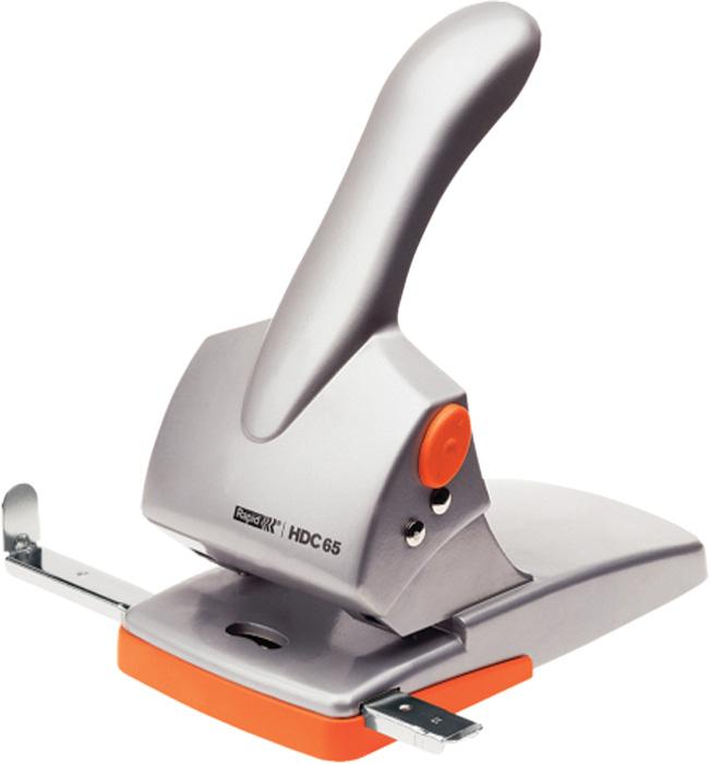 Kancelářský děrovač Rapid HDC65 - stříbrná / oranžová