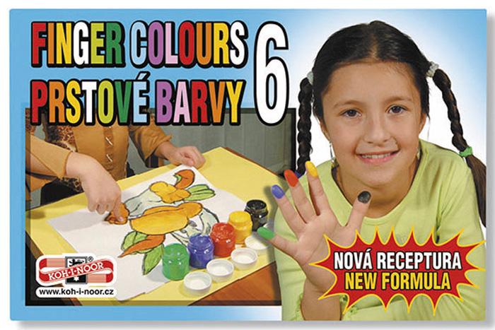 Prstové barvy - 6 barev / kelímek 50 ml
