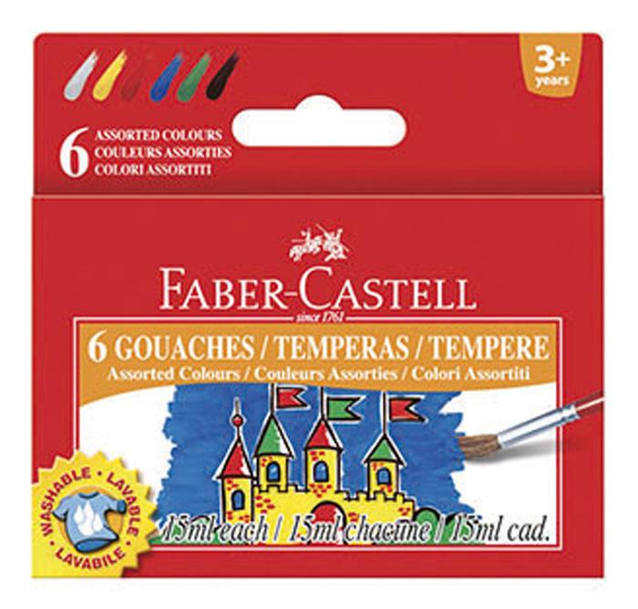 Temperové barvy Faber-Castell - 6 barev