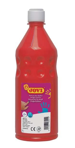 Prstové barvy JOVI v láhvi - 750 ml / červená