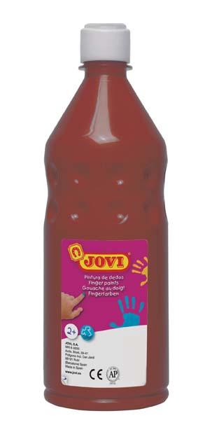 Prstové barvy JOVI v láhvi - 750 ml / hnědá