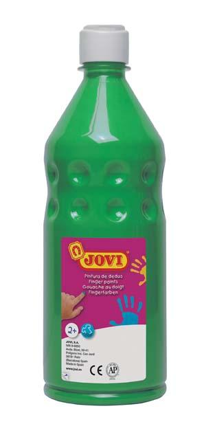 Prstové barvy JOVI v láhvi - 750 ml / zelená