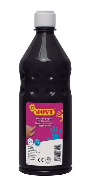 Prstové barvy JOVI v láhvi - 750 ml / černá