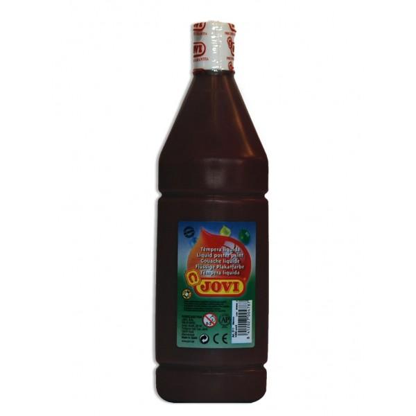 Tekuté temperové barvy JOVI v lahvi - 500 ml / hnědá