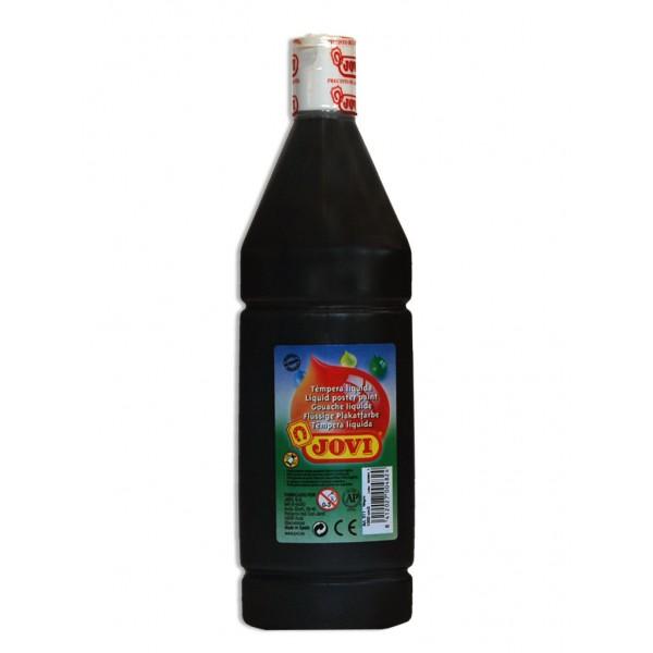 Tekuté temperové barvy JOVI v lahvi - 500 ml / černá