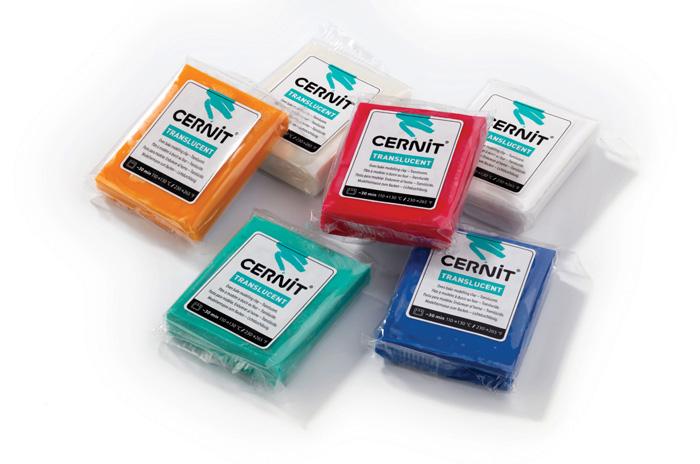 Modelovací hmota Cernit Translucent - smaragdová / 56 g