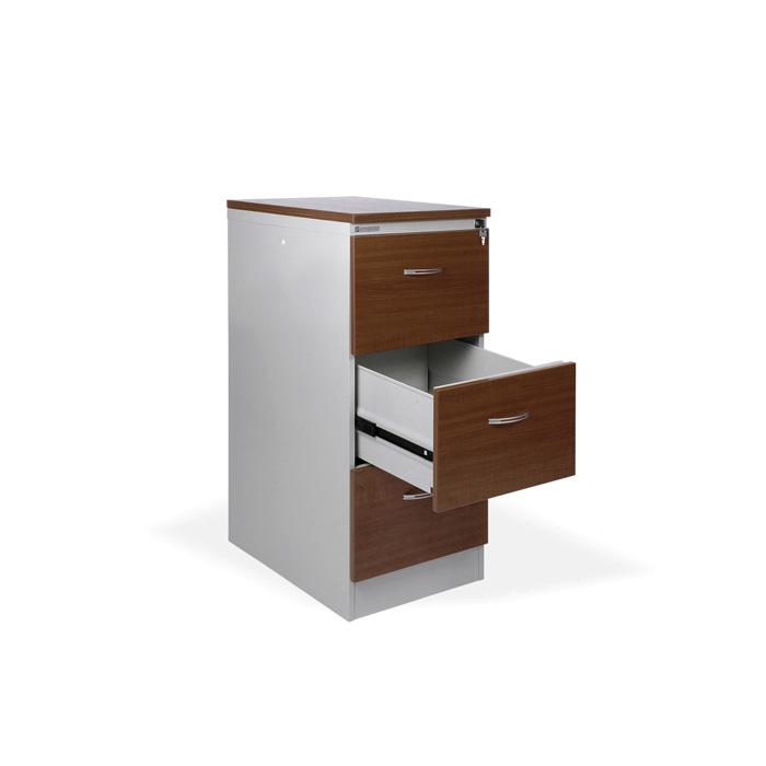 Kartotéky kovové / čelo ze dřeva - RGD 13 CE / 3 zásuvky