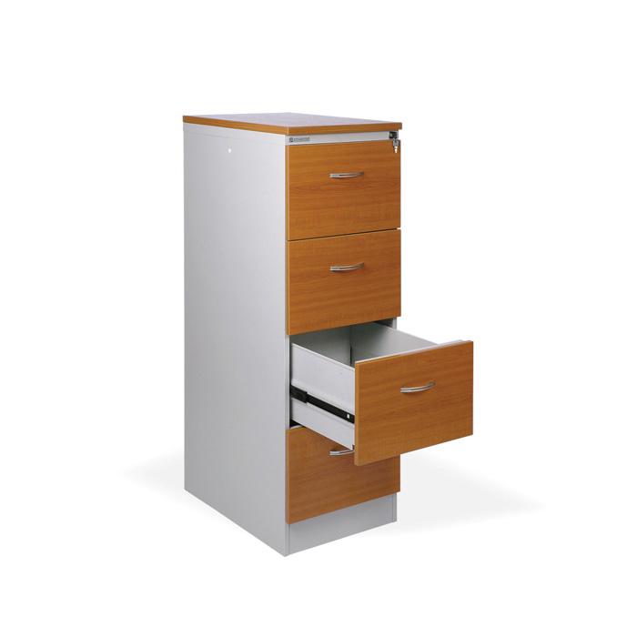 Kartotéky kovové / čelo ze dřeva - RGD 14 CE / 4 zásuvky