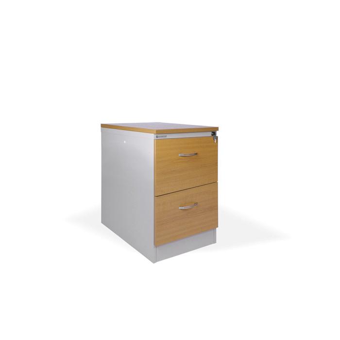 Kartotéky kovové / čelo ze dřeva - RGD 12 CE / 2 zásuvky