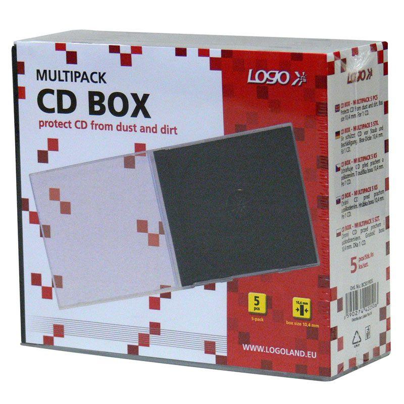Krabičky na CD a DVD - krabička na CD / 5 ks