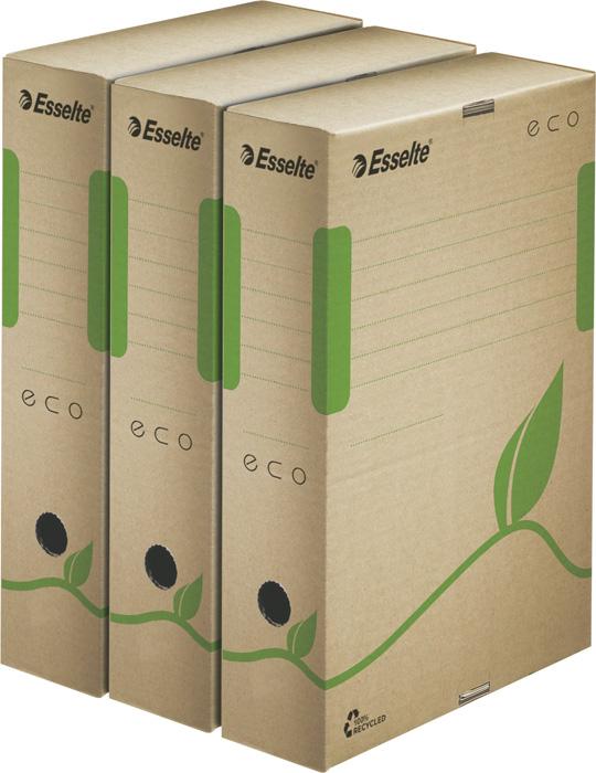 Archivní boxy a kontejnery Esselte ECO - box archivní / hřbet 8 cm / hnědá
