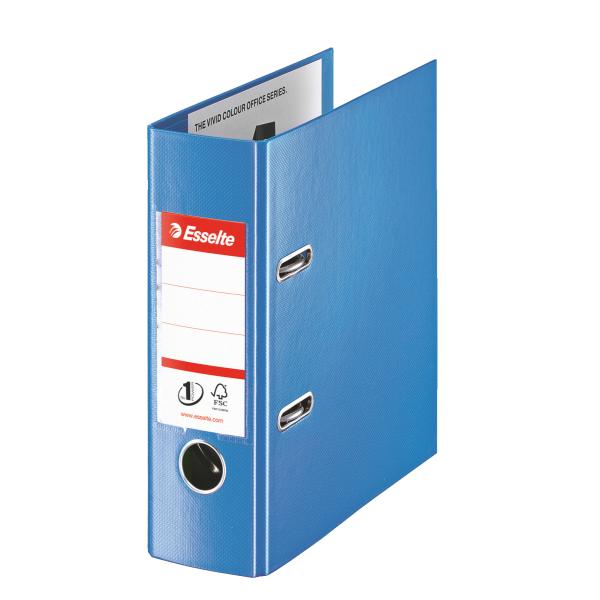 Pořadač A5 pákový celoplastový Vivida PLUS - hřbet 7,5 cm / modrá