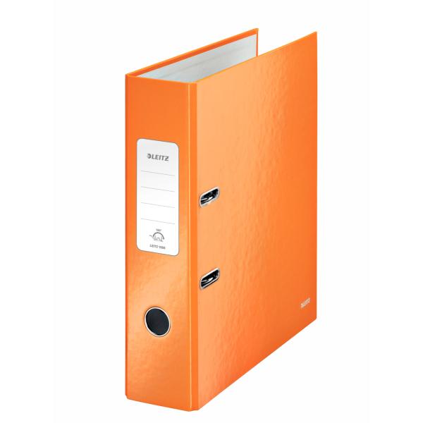 Pořadač A4 pákový Leitz 180° WOW - hřbet 8 cm / oranžová