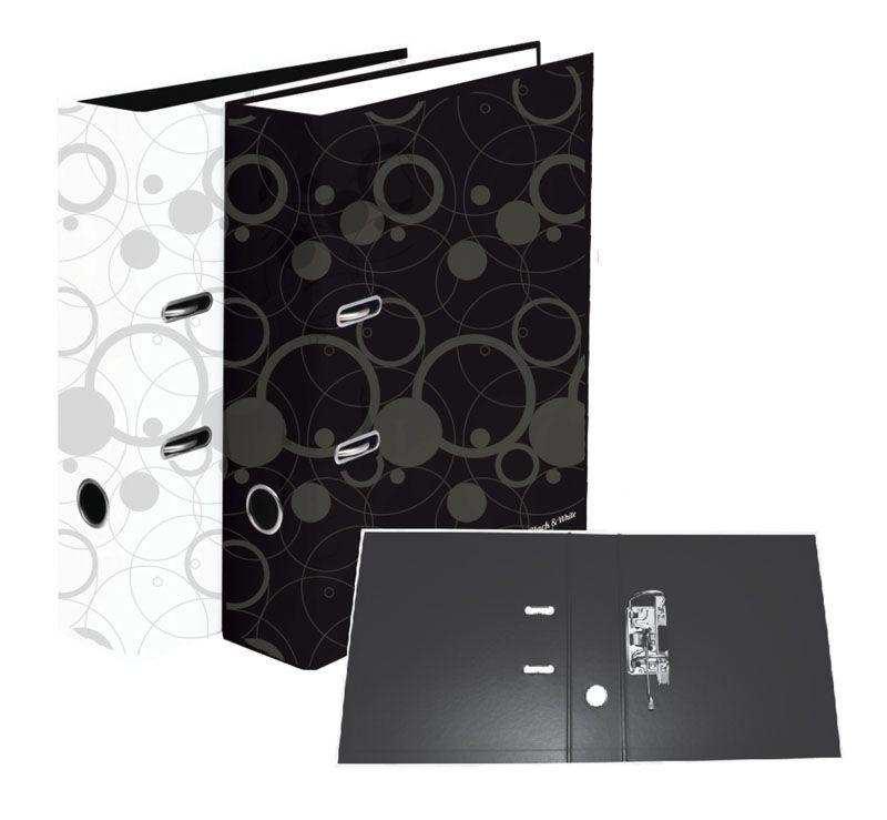 Pořadač A4 pákový Black & White - hřbet 7 cm / černá