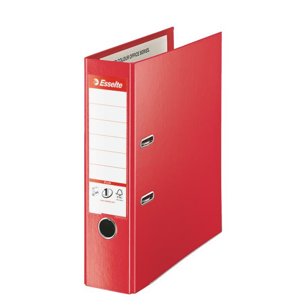 Pořadač A4 pákový celoplastový Vivida PLUS - hřbet 8 cm / červená