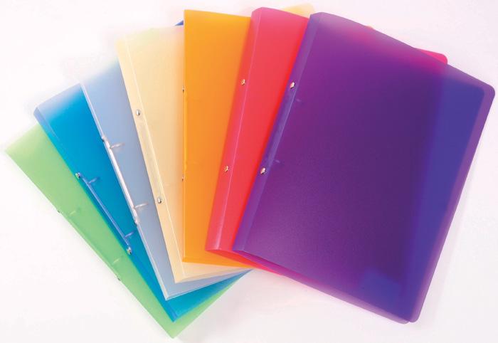Desky A4 kroužkové Opaline - 2 - kroužek / fialová