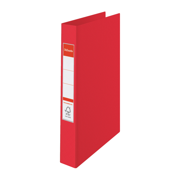 Pořadač A4 kroužkový celoplastový -2 - kroužek / červená