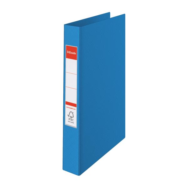 Pořadač A4 kroužkový celoplastový -2 - kroužek / modrá