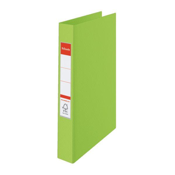 Pořadač A4 kroužkový celoplastový -2 - kroužek / zelená