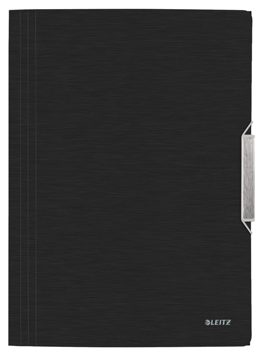 Spisové desky A4 s gumou Leitz STYLE - saténově černá