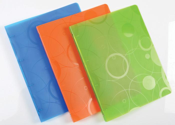 Desky A4 kroužkové NeoColori - 4 - kroužek / oranžová